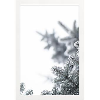 JUNIQE Print - Look Up - Trees Poster in Grey & White
