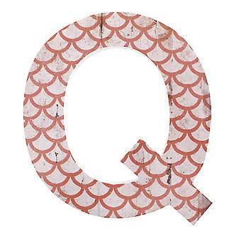 Bokstav Q Väggplatta