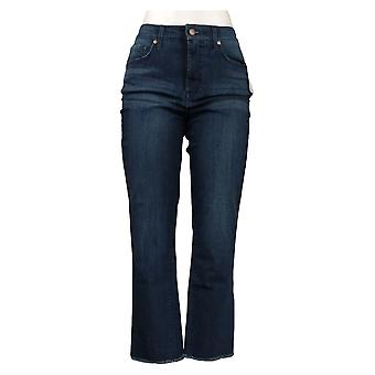 Isaac Mizrahi En direct! Jeans femme DENIM Jambe droite Effilée Bleu A372070