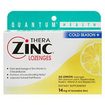 Quantum Health TheraZinc Lozenges, Zinz & Lemon, 24 Lozenges