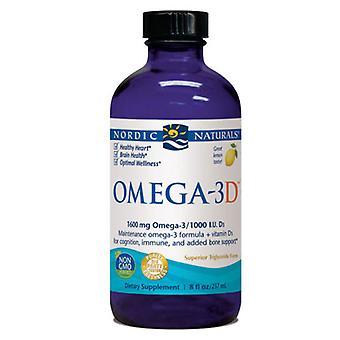 Nordic Naturals Omega-3D, Lemon 8 oz