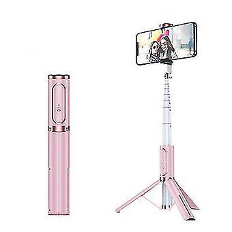 Bluetooth Selfie Stick -kolmijalka, kannettava langaton selfie-tikku Applelle (vaaleanpunainen)