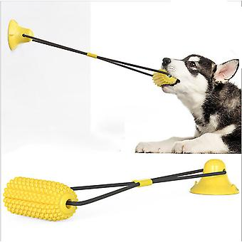 Dog Chew Toys For Aggressive Chewers, Bite Resistant Dog Suction Toys, Dog Rope Ball With Suction Cup