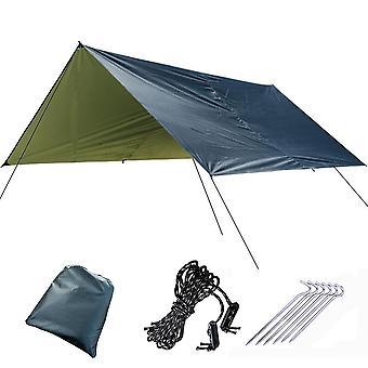300*290cm Awning Waterproof Tarp Tent Outdoor Camping Sun Shelter Canopy Sunshade Sun Shade Beach