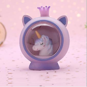 Girly Heart Creative Gift Unicorn Princess Night Light Star Light Prezent urodzinowy (9,5 * 7,5 * 11CM)