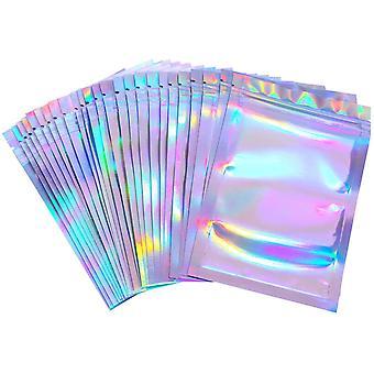 100 Stücke Wiederverschließbare Geruchssichere Tasche Folien Tasche Flachbeutel Reißverschluss