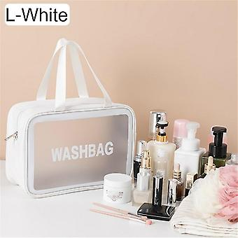 Large capacity women's cosmetics storage bag travel bag waterproof easy to carry with handle wash bag