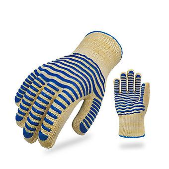 500 Bbq Heat Proof Gloves Silicone Insulated Heat Resistant Gloves