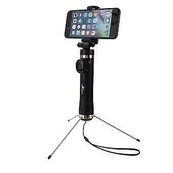 3 in 1 bluetooth Kauko-kolmijalka Selfie Stick Heijastimella iPhone X 8Plus Oneplus 6 S9
