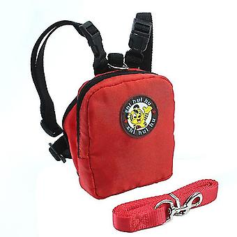 Pet traction from backpack(Rose Red)