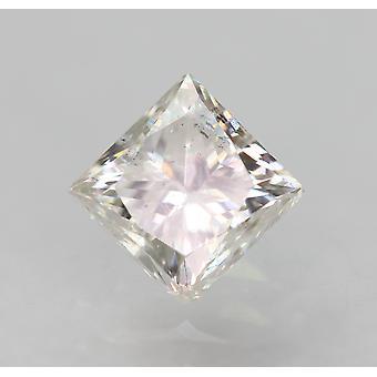 Certificeret 0,51 Karat E VS1 Princess Forbedret Natural Loose Diamond 4.14x4.13mm