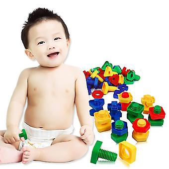 40pcs/set 3dd Colorful Screw Dadi Bulloni -costruzione Puzzle Game Intelligent