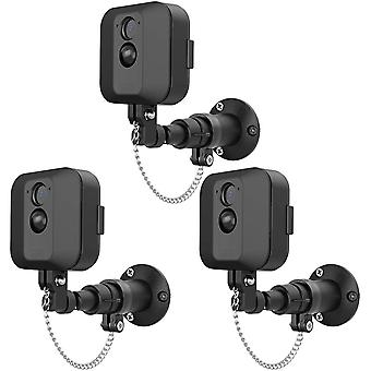 3 Pack Anti-Theft Security Chain compatible with BLINK XT wall mount Outdoor Indoor Bracket
