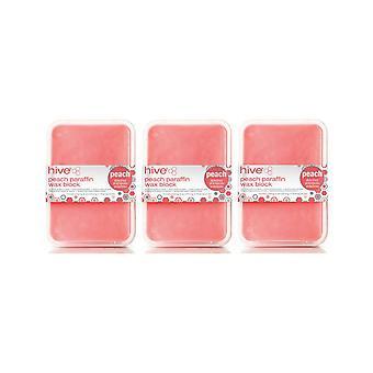 Hive Of Beauty 3 Para 2 Tratamiento de terapia de calor de parafina de melocotón depilación con cera - Bloque de 450 g