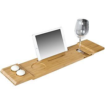 SoBuy Bandeja de estante de bañera con iPad Min / teléfono móvil, FRG104-N