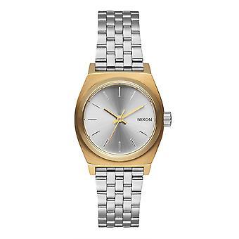 Nixon Small Time Teller argento / oro / rosa oro (A3992632)