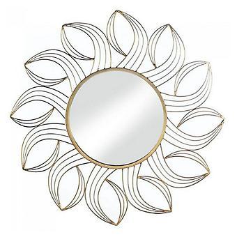 Accent Plus Metal Petals Miroir Mural Doré, Pack de 1