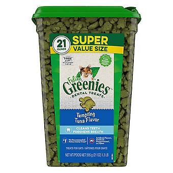 Greenies Feline Dental Treats Tempting Tuna Flavor - 21 oz
