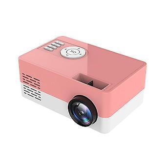 Portabil J15 1080P USB Mini Home Proiector (roz)