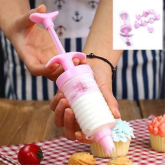 Glasyr spruta mögel tårta dekorera rörkräm spruta tips set