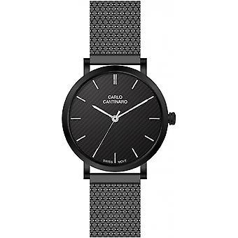 Carlo Cantinaro Black Stainless Steel CC1001GM011 Men's Watch