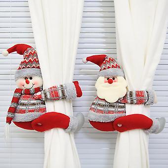 Christmas creative curtain buckle cartoon doll decoration hotel restaurant decoration doll buckle window pendant