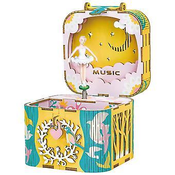 Traum Hand Kurbel Musik Box-3d Holz Puzzle Diy Assemble Spielzeug Geschenk