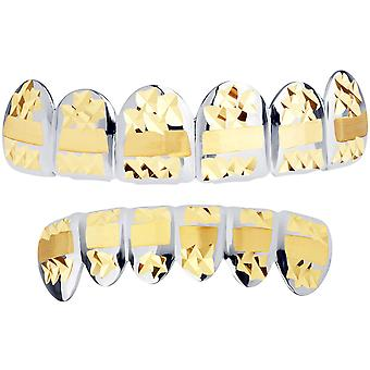 Silver Grillz - one size fits all - Diamond cut III - SET