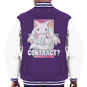 Kyubey Contract Puella Magi Madoka Magica Men's Varsity Jacket
