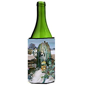 Cactus Flowers Wine Bottle Beverage Insulator Hugger