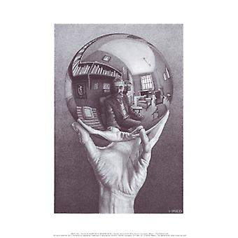 Hand with Globe Poster Print by MC Escher (11 x 14)