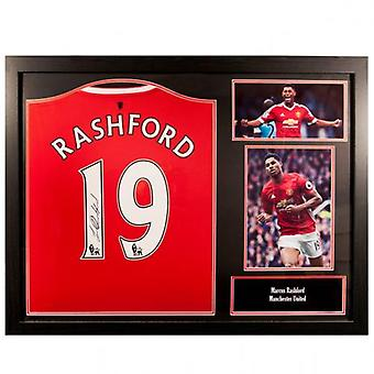 Manchester United Rashford ondertekend Shirt (geframede)