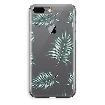iPhone 8 Plus Transparant Fall (Soft) - einfache Blätter