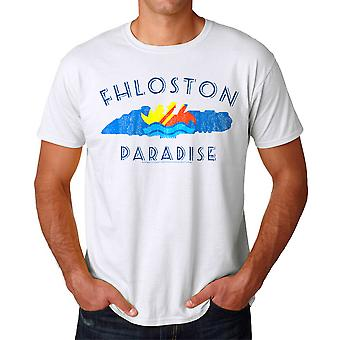 Le cinquième élément Fhloston Paradise rétro blanc T-shirt homme
