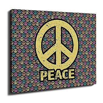 Peace Pattern Art Wall Art Canvas 40cm x 30cm | Wellcoda