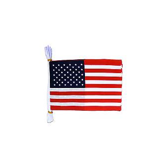 USA Flag Bunting Rectangular Flags