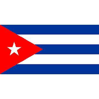 Kuuban lippu 5 jalkaa x 3 ft jossa ripustamista varten