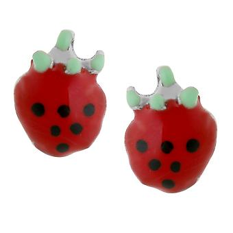 Orphelia argent 925 enfants boucle d'oreille rouge fraise ZO-7149