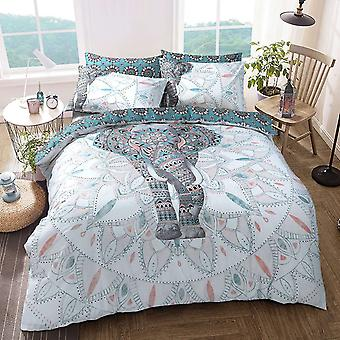 Pieridae Elephant Mandala Duvet Cover Quilt Cover Bedding Set