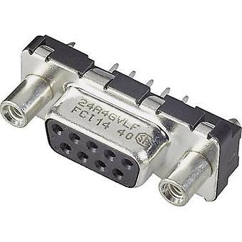 FCI D-SUB D09S24A4GV00LF D-SUB Buchsen 180 ° Anzahl der Stifte: 9 Print 1 stk.:s