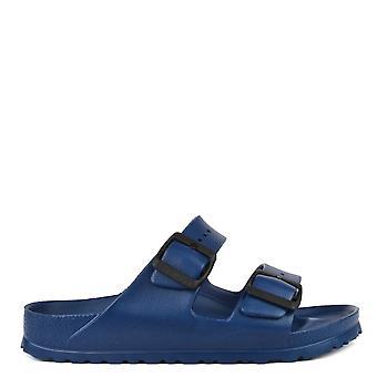 Birkenstock Arizona marinblå gummi två Strap Sandal