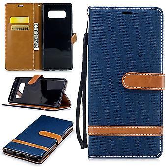 Tasche für Samsung Galaxy Note 8 Jeans Cover Handy Schutz Hülle Case Dunkelblau