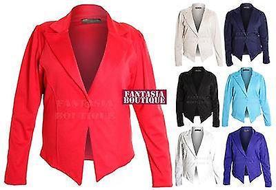 Ladies Kalustettu Plus Koko Ruched Hiha 6 Button Blazer Jacket Naisten Takki