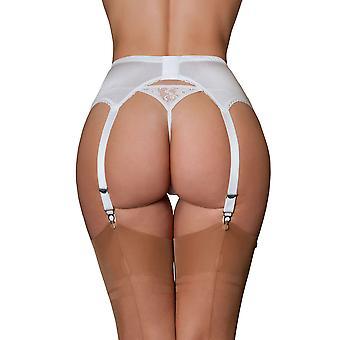 Rêves en nylon NDL7 féminin noir & blanc porte-jarretelles ceinture 6 sangle porte-jarretelle