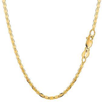 10 ك مارينر الذهب الأصفر ربط سلسلة قلادة، 2.3 مم