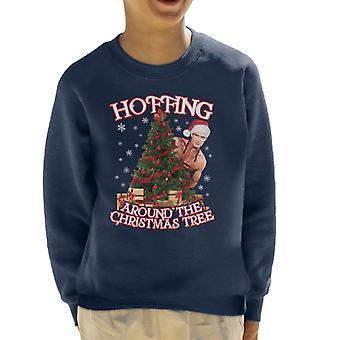 デビッド Hasselhoff Hoffing クリスマスツリーキッズスウェットシャツの周り
