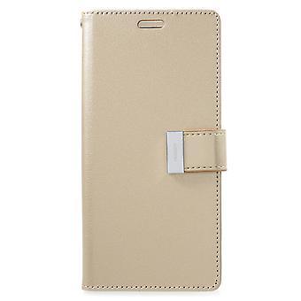 Mercury GOOSPERY Rich Diary for Samsung Galaxy S9 Plus-Gold