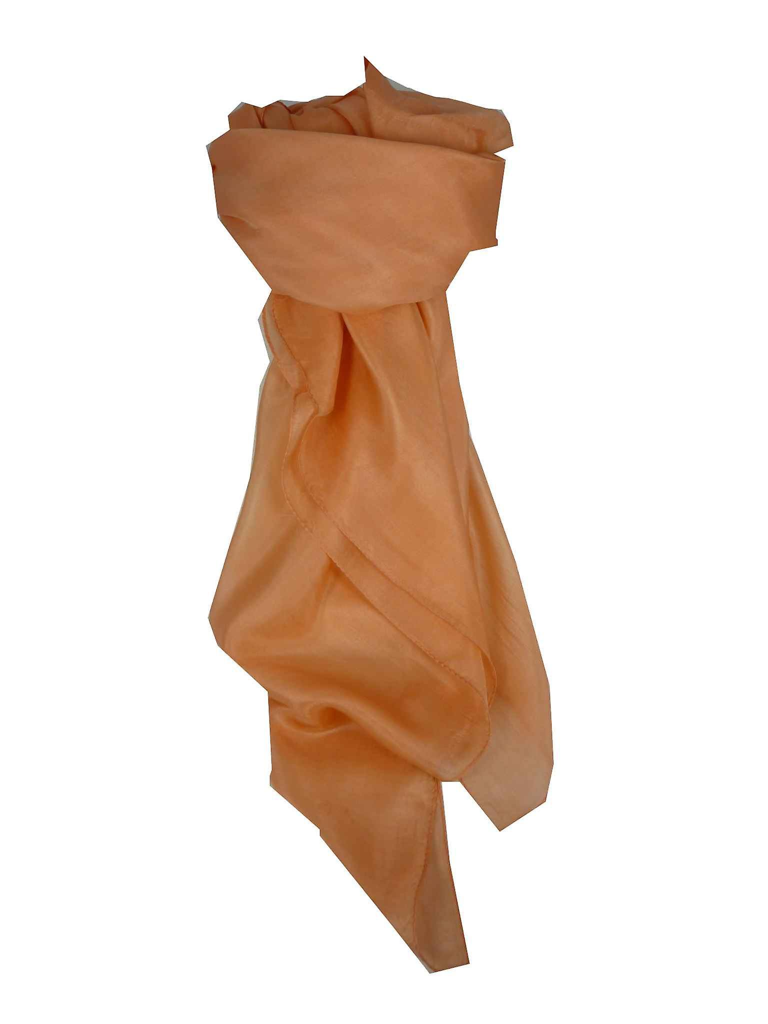 Mulberry Silk Hand Dyed Square Scarf Melon from Pashmina & Silk