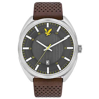 Lyle and Scott Tevio Watch - Chocolate Brown/Grey