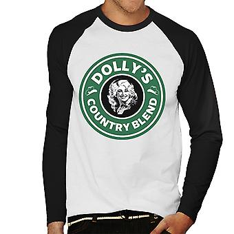 Dolly Partons pays mélange Baseball Starbucks Logo hommes manches longues T-Shirt